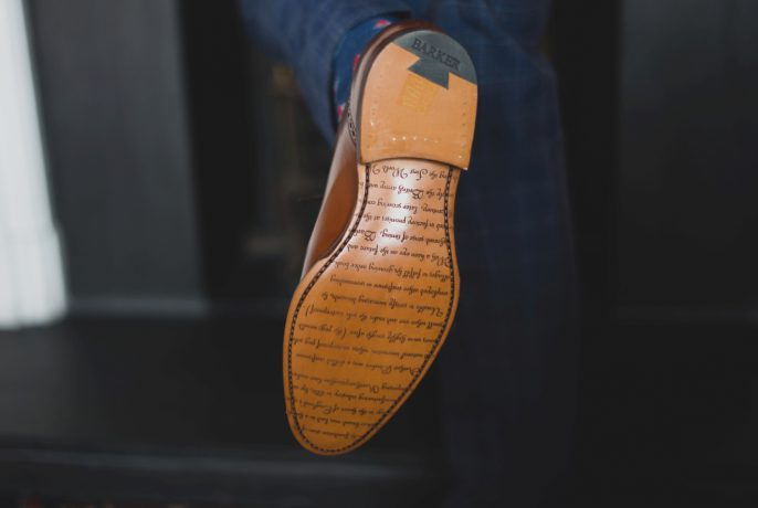 Barker Goodyear welted leather sole