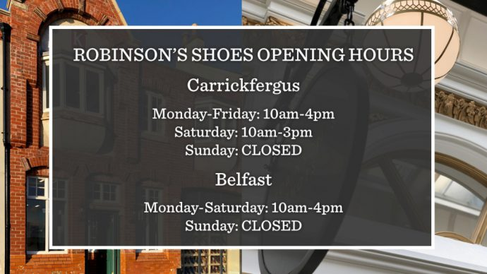 Robinson's Shoes store opening hours